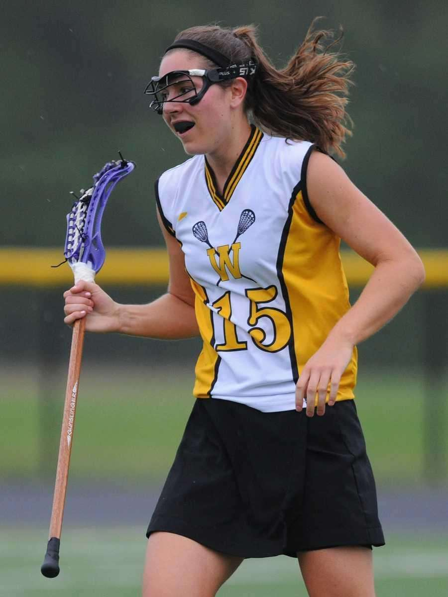 Wantagh's Kaleigh Craig reacts after scoring a goal