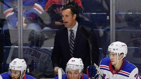 Rangers head coach David Quinn calls out to
