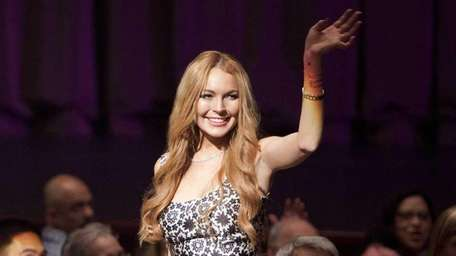 Lindsay Lohan starred as herself on the May