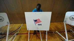 Amityville residents cast their vote on school budgets