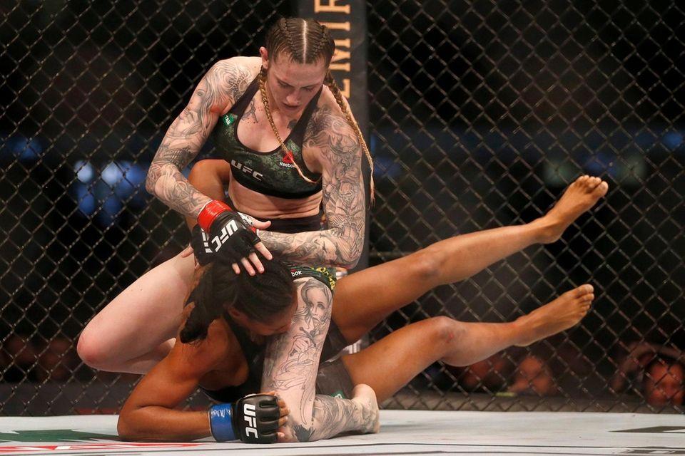 Megan Anderson of Australia punches Zarah Fairn of