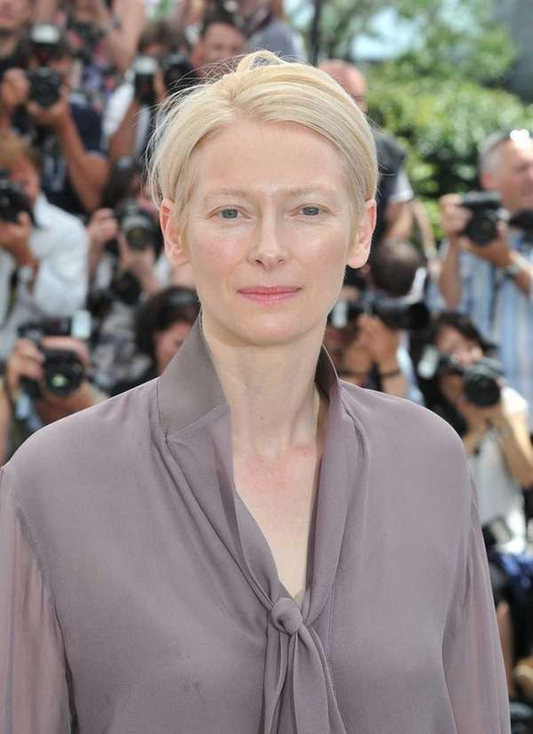 "Tilda Swinton poses at the ""Moonrise Kingdom"" photocall"