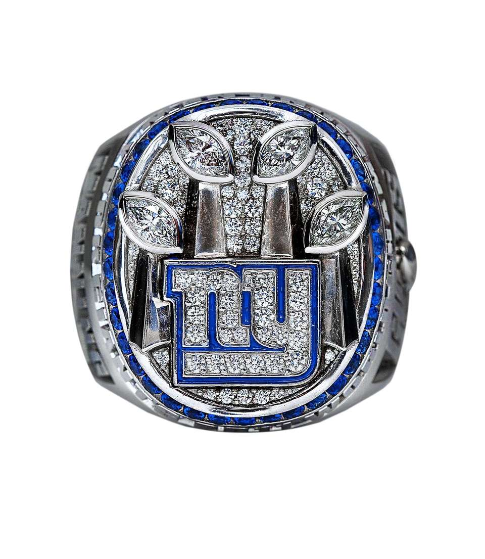 The front view of the Giants' Super Bowl