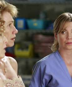 "Ellen Pompeo in a scene from ""Grey's Anatomy."""