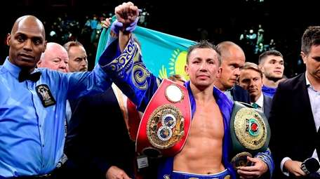 Gennady Golovkin is awarded victory in his IBF