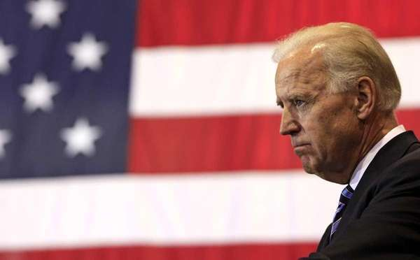 Vice President Joe Biden pauses as he speaks