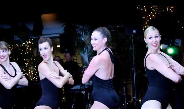 Members of the Rockettes perform at the Dancing