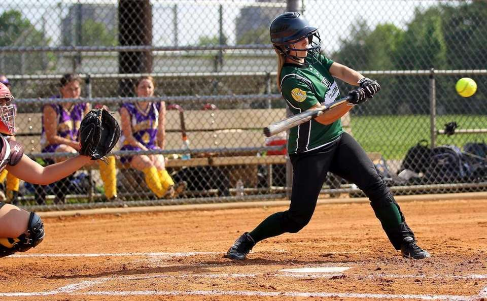 Locust Valley's Briana Mahoney connects for a hit