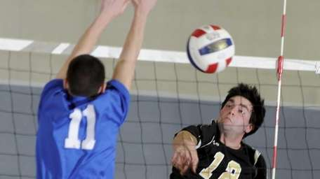 St. Anthony's Joseph Groneman gets a shot past