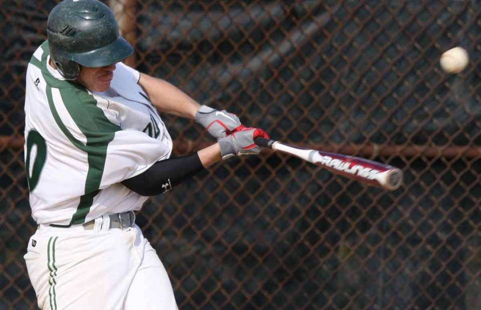 Bellmore JFK's Jake Schwartz connects for an RBI