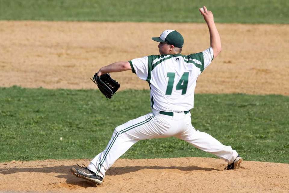 Bellmore JFK's Jordan Boyer pitches against Carey during