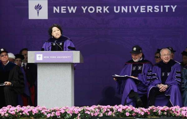 U.S. Supreme Court Justice Sonia Sotomayor speaks at