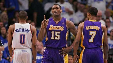Metta World Peace #15 of the Los Angeles