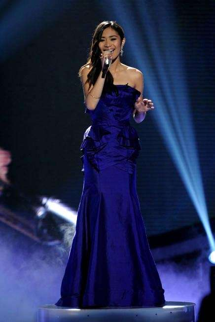 "Jessica Sanchez performs Mariah Carey's ""My All."" (May"