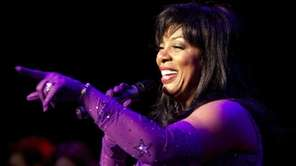 Donna Summer performs at a Jones Beach concert