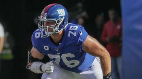 Giants offensive tackle Nate Solder during the second