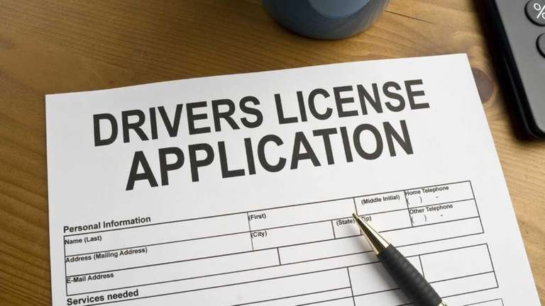 This photo shows the application for a driver's