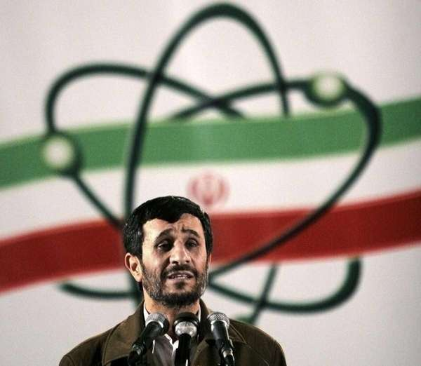 Iranian President Mahmoud Ahmadinejad, speaks at a ceremony