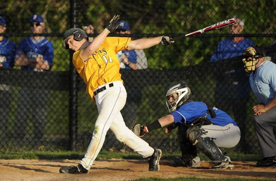 Ward Melville's Nicholas Nunziato strikes out in the