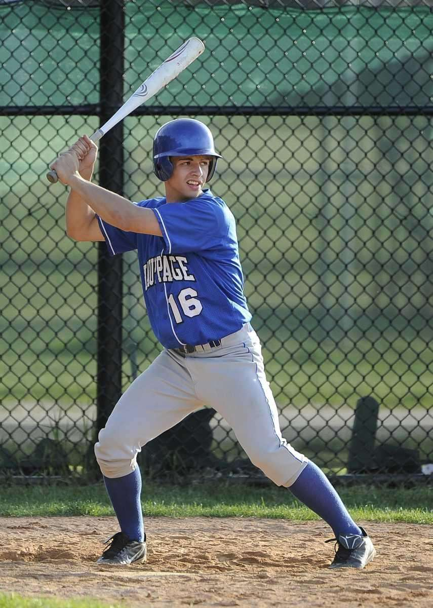 Hauppauge's Sean Prahalis doubles in the tenth inning