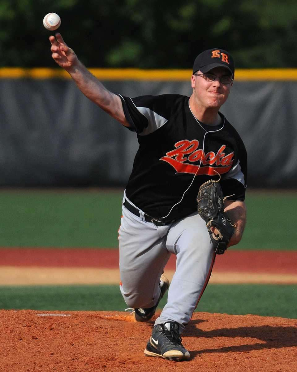East Rockaway pitcher Joe Lores delivers to the