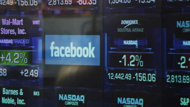 The Facebook logo appears on a display inside