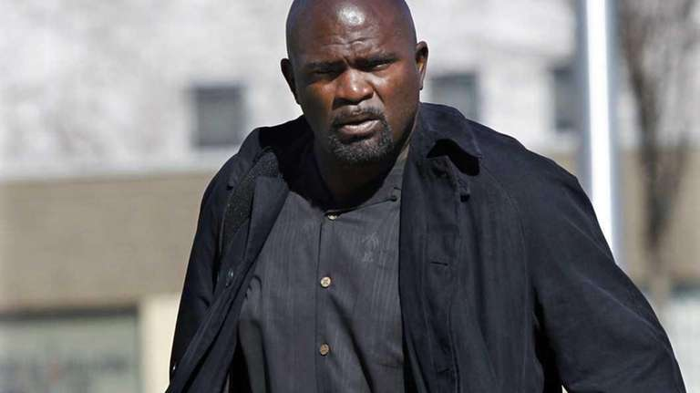 Former NFL football great Lawrence Taylor arrives at
