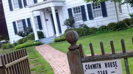 The approach to the Corwith House, one of