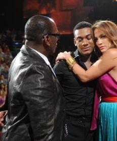 Judges Randy Jackson and Jennifer Lopez say goodbye