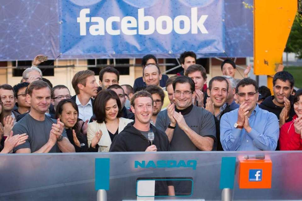 In this handout from Facebook, Facebook founder and