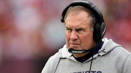 Patriots coach Bill Belichick, shown here against Washington