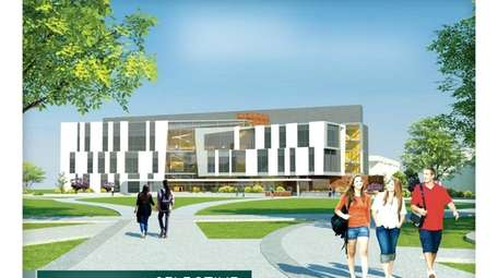 A rendering of Farmingdale State College's proposed $53