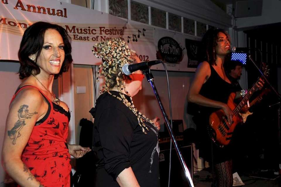 At the Montauk Music Festival's opening party at