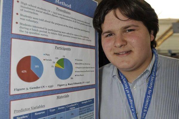 Roslyn High School senior Benjamin Kornick learned Friday
