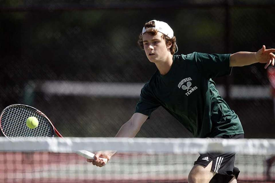 Boys doubles finalist Cooper Lacetera of Westhampton with