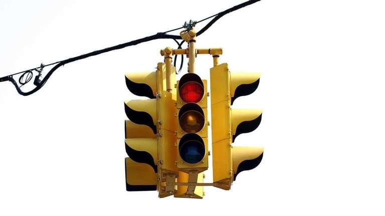 A new traffic light has been installed at