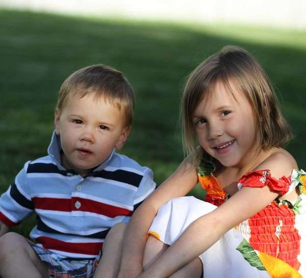 Grace Varley and her brother Myles Varley play