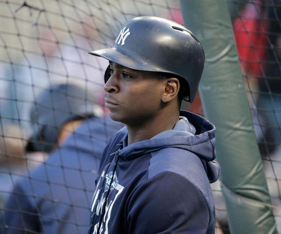 New York Yankees shortstop Didi Gregorius (18) during