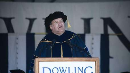 Dr. Jeremy D. Brown gives the commencement speech