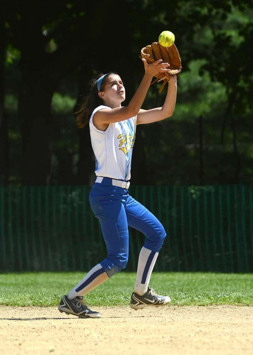 Krista King of Kellenberg makes a catch. (May