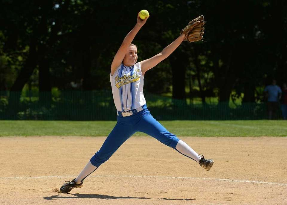 Kellenberg's Susan Pardo pitched a complete game, striking
