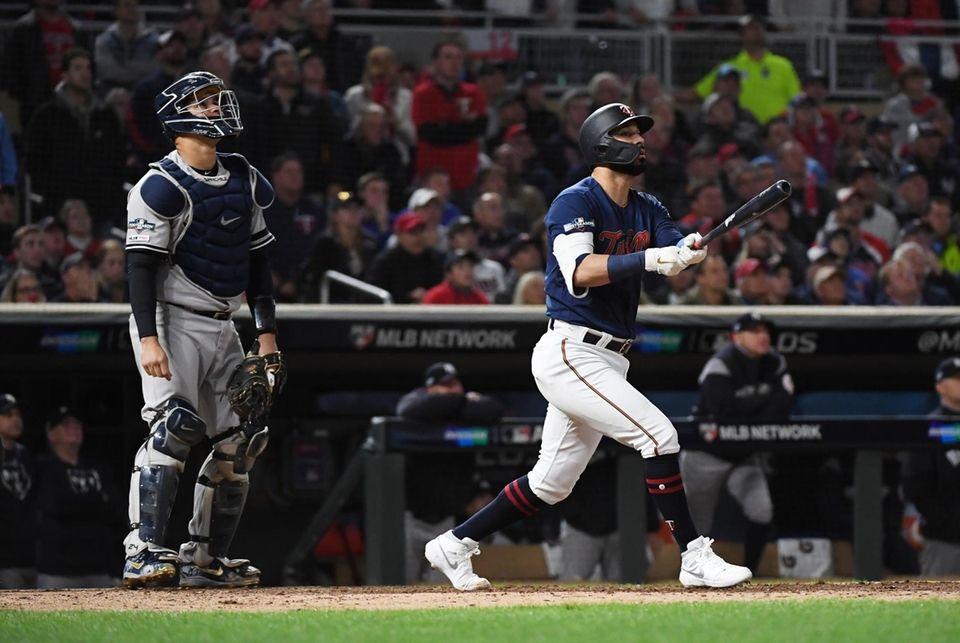 New York Yankees catcher Gary Sanchez (24) watches
