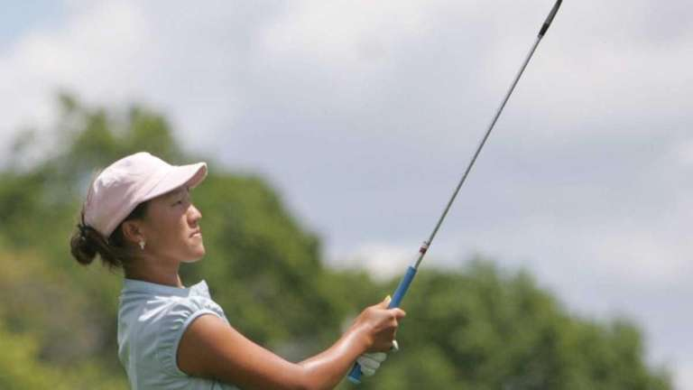 Annie Park, 14 of Levittown, playing in an