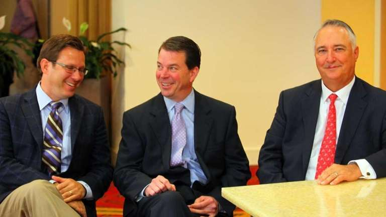 From left, Brent Fewell, Gary Albertson, and Patrick