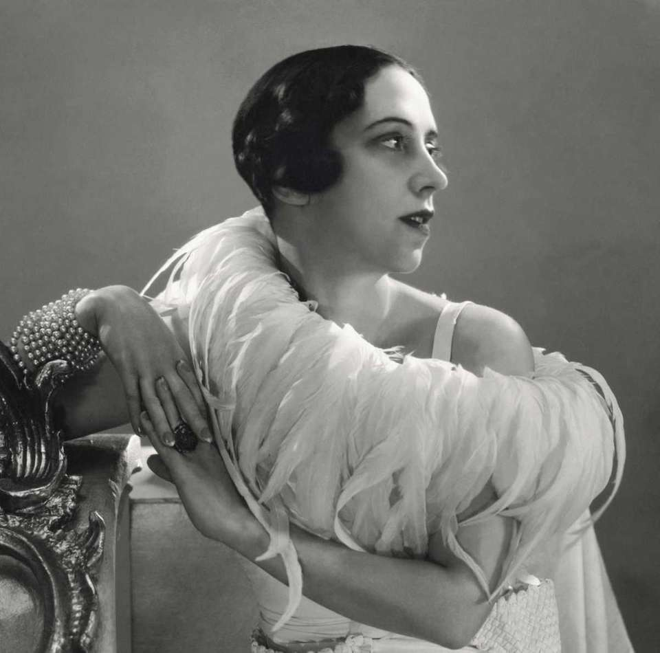 Portrait of Elsa Schiaparelli (1890-1973) by George Hoyningen-Huene