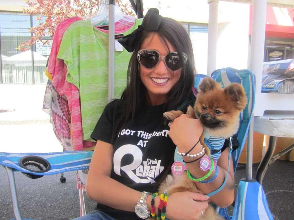 Brooke Dejuana of Denim Rehab shows off her