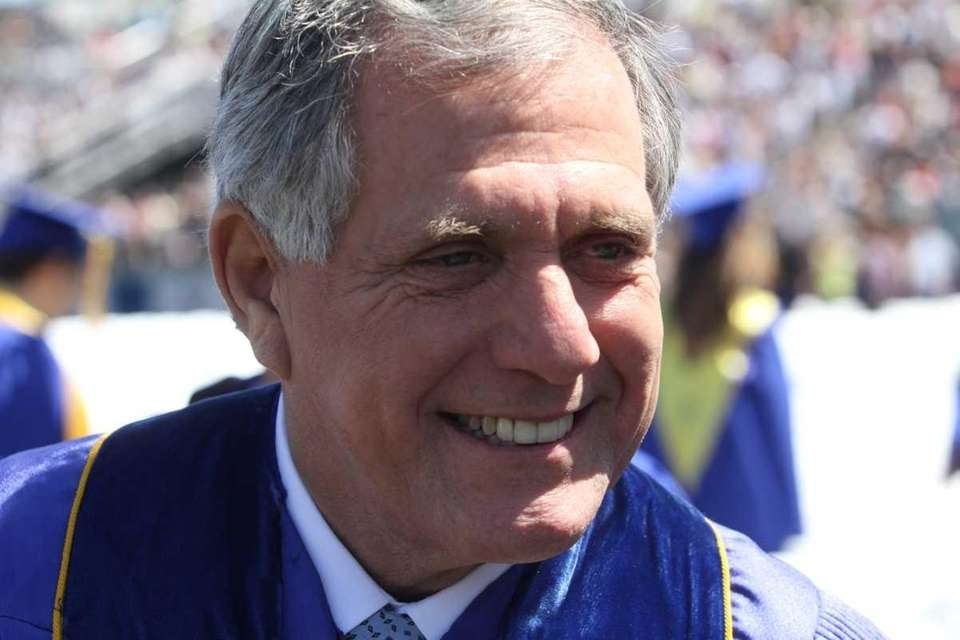 CBS chief executive Leslie Moonves attends Hofstra University's