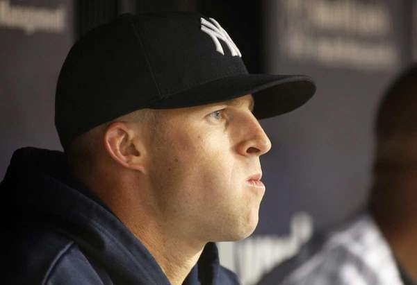 Brett Gardner of the New York Yankees looks