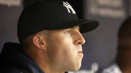 Brett Gardner of the New York Yankees looks