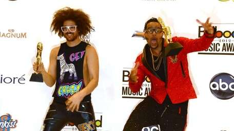Redfoo and Sky Blu of LMFAO, winners of
